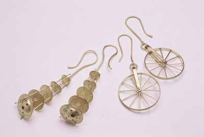 Chandelier and Wheel Earrings