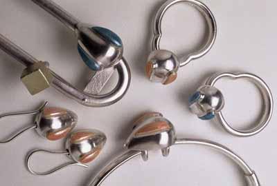 Mouse (brooch, rings, bangle, earrings)