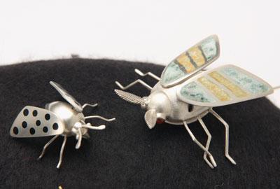 Small Dotted Moth, Big Moth (pins)