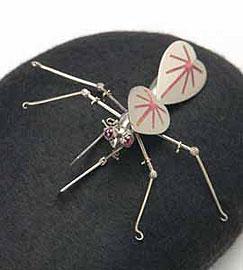 Pink Mantis (brooch)