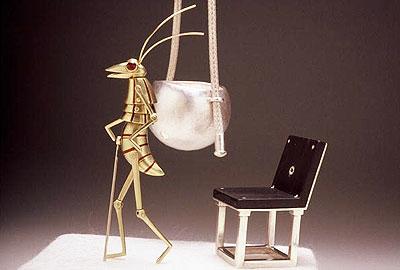 Prawn Cracker - Mr.Prawn, his chair & swing