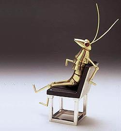 Prawn Cracker - Mr.Prawn on chair