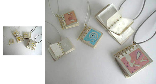 Books (wearable as pendants)