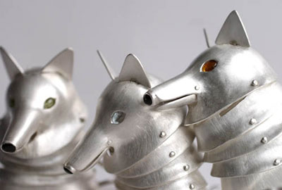 Wolf heads (detail)
