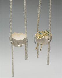 Broken Egg (pendants)