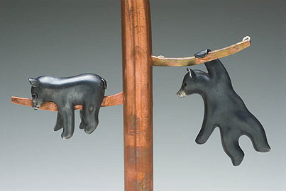Two Bear cubs (brooch/pendant)
