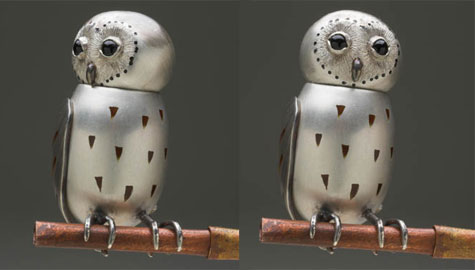 Forest owl (brooch)