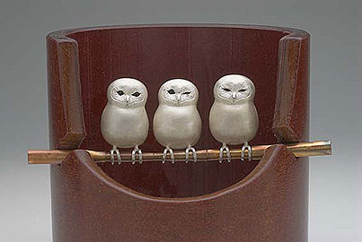 Owlet (pendant or pin)