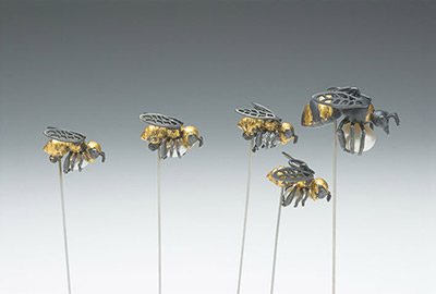 Smaller Worker Bees (pendant &pin)