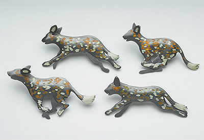 Lycaon Pictus (brooches)