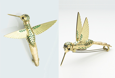 Gold Hummie (brooch)