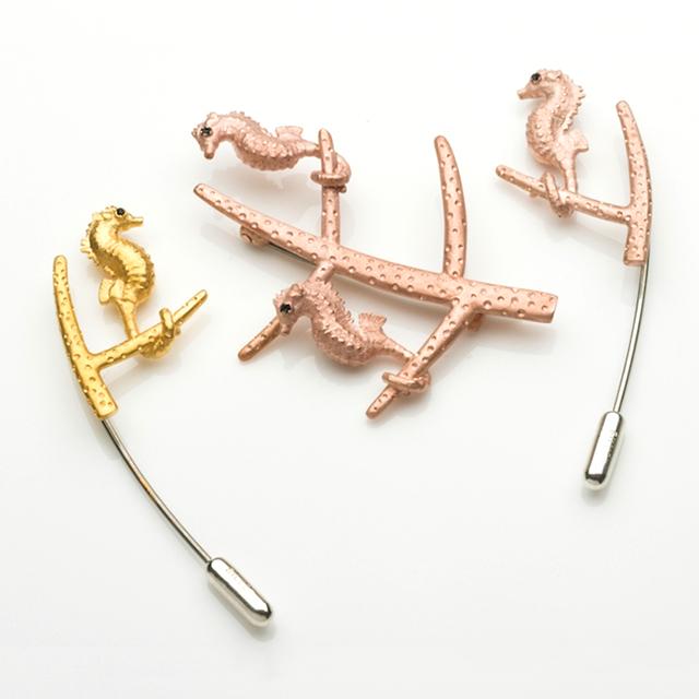 Pygmy Seahorse - brooch&pins
